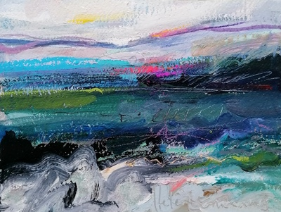 Helena Emmans Winter's Sinking Light Mixed media  25 x 34 cms £290
