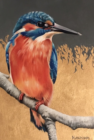 Kingfisher Oil 20 x 13 cms £490