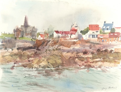 Jenny Matthews St Monans, Evening Watercolour  30 x 40 cms £500 (unframed)