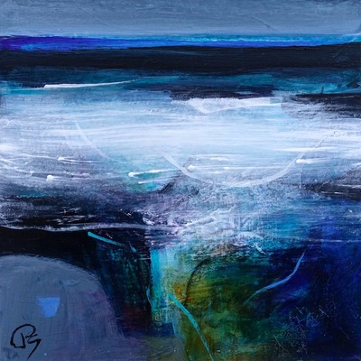 Patricia Sadler Gently Lapping Waves Acrylic on canvas 20 x 20 cms SOLD