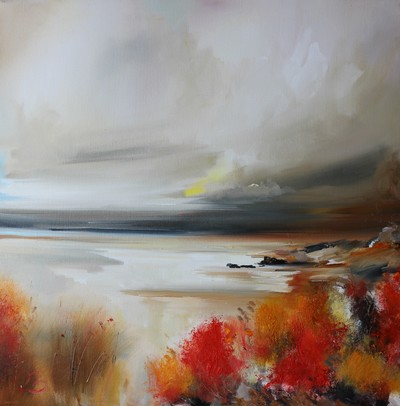 Rosanne Barr A Storm Brewing oil on canvas 60 x 60 cms £1200