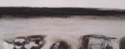 Karen MacWhinnie Landscape 2 Acrylic on canvas 20 x 50 cms £325