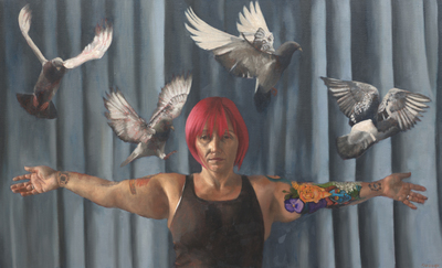 Jane Gardiner Let the Pigeons Go 62 x 102 cms £3250