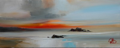 Rosanne Barr The Last Minutes of Sunset Oil on canvas  20 x 50 cms £600