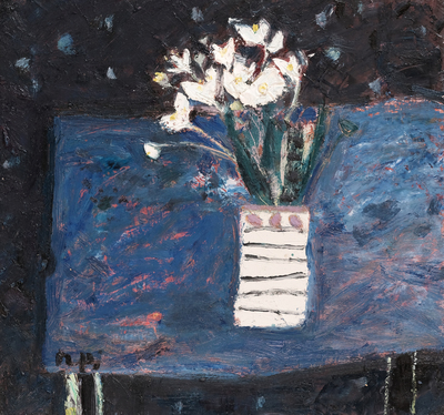 Sandy Murphy RGI PAI White Lilies  15 x 16 ins oil on board  £1800