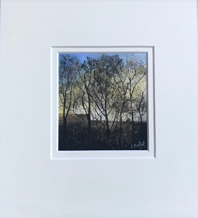 Sandra Moffat  Light Play I Mixed media  15 x 13 cms (37 x 34 cms framed) £400