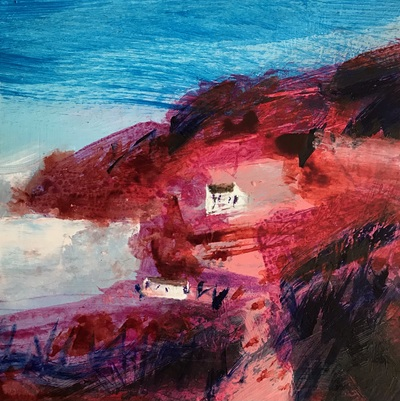 Caroline Bailey Ord Bay Mixed media 18 x 18 cms £300 (unframed)