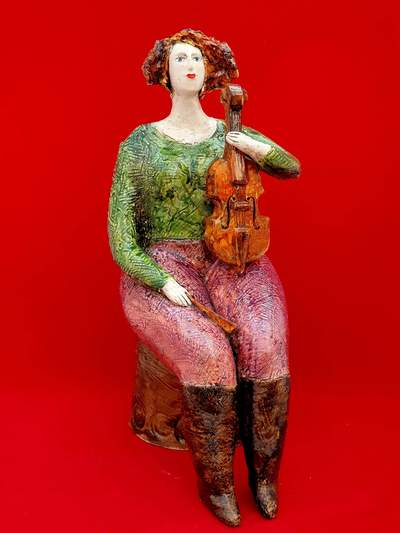 Ludmilla Kosmina  Lady With Violin Porcelain H25 cms £290