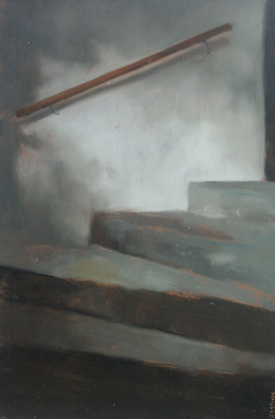 Jane Gardiner Grey Stairs 33 x 23 cms £400