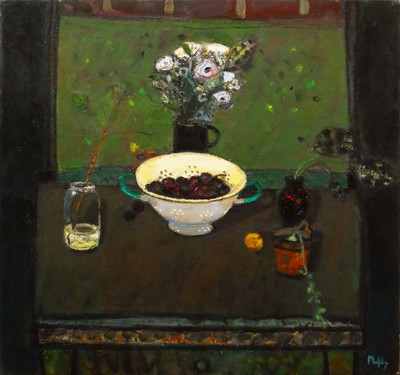 Sandy Murphy RSW RGI PAI Colander oil on linen 26 x 28 ins SOLD