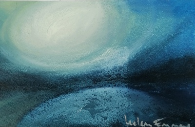 Helena Emmans Winter Moon Light Mixed media  25 x 16 ms £110 (unframed)