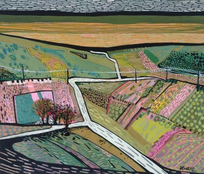 Carol Dewart PAI RSW This Land is Your Land gouache 25 x 31 cms £1100