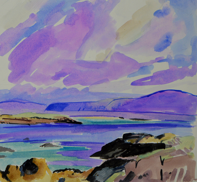 Marion Thomson Iona Skies Watercolour  28 x 30 cms £410