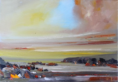 Rosanne Barr Skerries at Last Light 25 x 35 cms SOLD