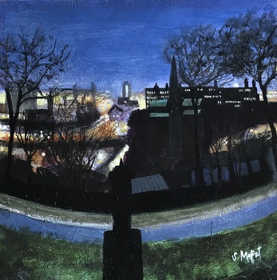 Sandra Moffat  View from the Necropolis Mixed media  26 x 26 cms £400 (unframed)