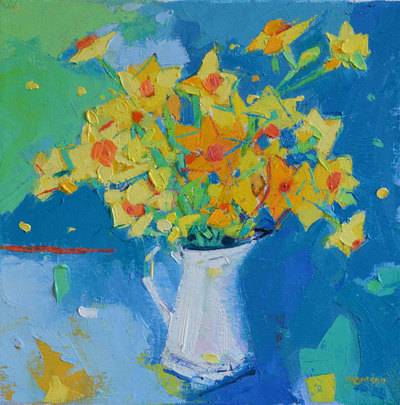 Marion Thomson Narcissi 24 x 24 cms £520