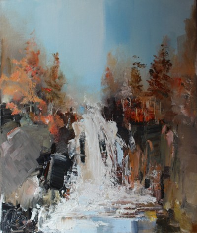 Rosanne Barr Finding the Hidden Waterfall oil on canvas 30 x 20 cms SOLD
