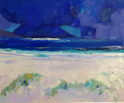 Marion Thomson Passing Storm, Luskentyre Oil on Canvas  70 x 85 cms £2200