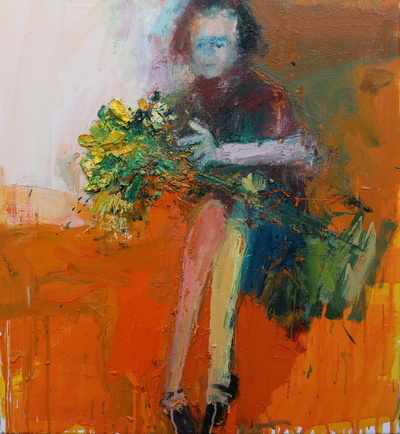 Henry Jabbour A Lap of Roses II Oil on linen 60 x 56 cms £1400