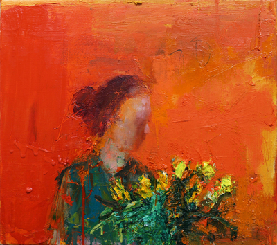 Henry Jabbour Springtime My Heart Oil on linen 45 x 40 cms £900 SOLD