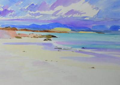 Marion Thomson North End, Iona Watercolour  30 x 45 cms £420