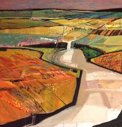 Carol Dewart PAI RSW The Road Not Taken gouache 61 x 61 cms £2000 SOLD