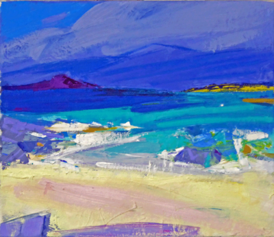 Marion Thomson  Running Tide, Ardnamurchan Oil on canvas  30 x 35 cms £850
