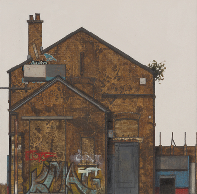 Cate Inglis Printer's Gable Oil on board  25 x 25 cms £675 SOLD