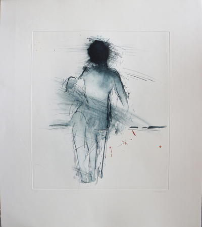 Henry Jabbour Seated Woman Sugar lift with aquatint and dry point 38 x 33 cms £560