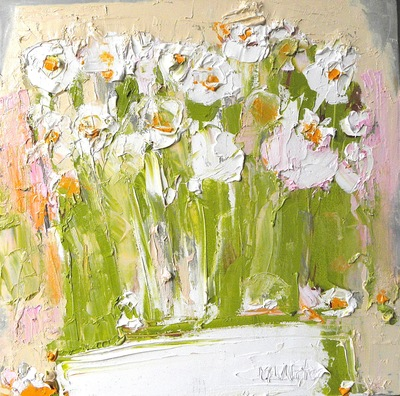 Wild Flowers Looking for Summer 50 x 50 cms oil on canvas SOLD