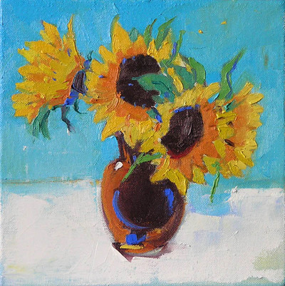 Marion Thomson Sunflowers 20 x 20 cms £450