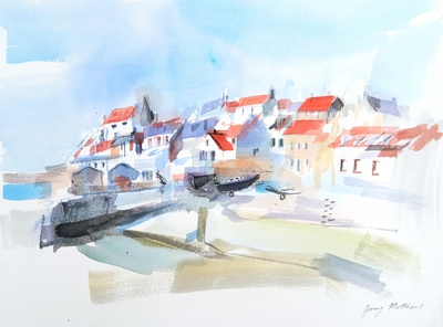 Jenny Matthews St Monans, Morning Light Watercolour  30 x 40 cms £500 (unframed)