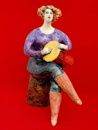 Ludmilla Kosmina  Lady With Drum Porcelain H25 cms £290