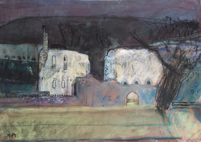 Sandy Murphy RGI PAI Dundrennan Abbey  20 x 27 ins pastel  £950 SOLD