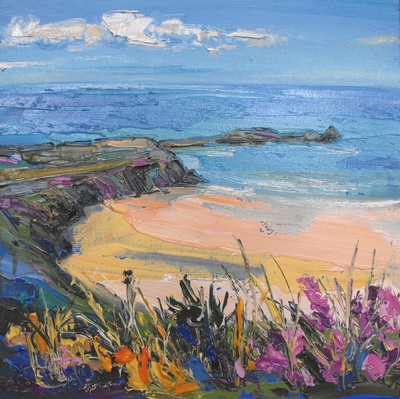 Judith I Bridgland From the Clifftop oil on linen 30 x 30 cms SOLD