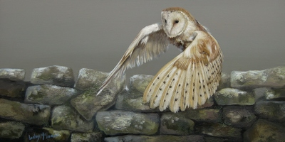 Lesley McLaren  Taking Flight  Oil on gesso board  15 x 30 cms £400 (unframed)