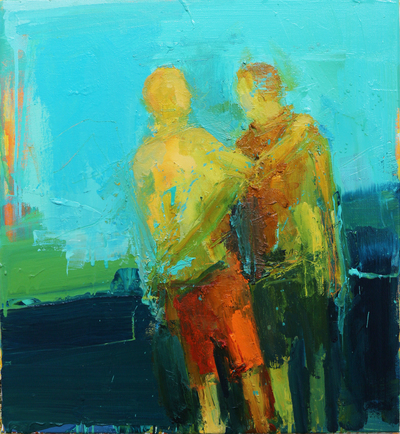 Henry Jabbour No You, No Me Oil on linen 60 x 56 cms £1400